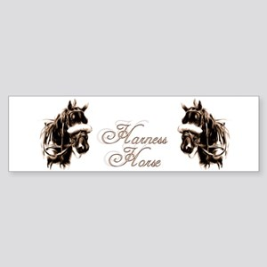 Harness Horses Bumper Sticker