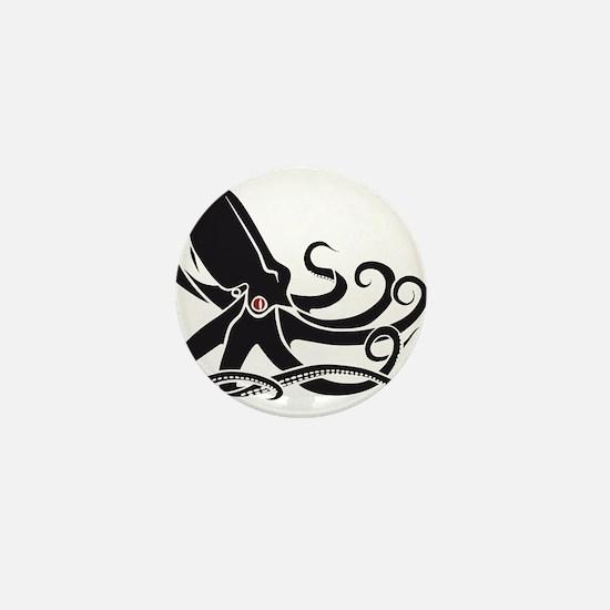 Black Octopus Mini Button