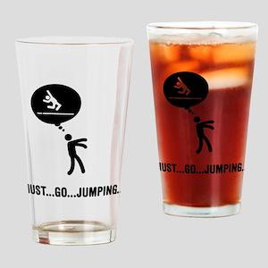 Long Jump Drinking Glass