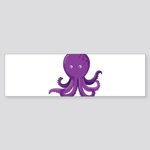 Purple Octopus Bumper Sticker