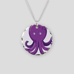 Purple Octopus Necklace
