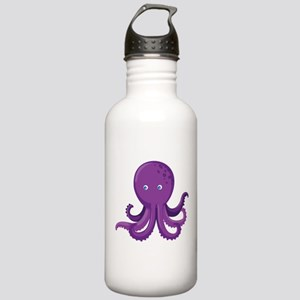Purple Octopus Water Bottle