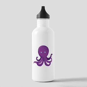 Purple Octopus Water Bottle