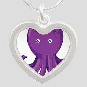 Purple Octopus Necklaces