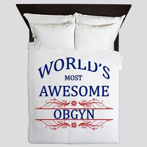 World's Most Awesome OBGYN Queen Duvet