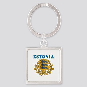 Estonia Coat Of Arms Designs Square Keychain