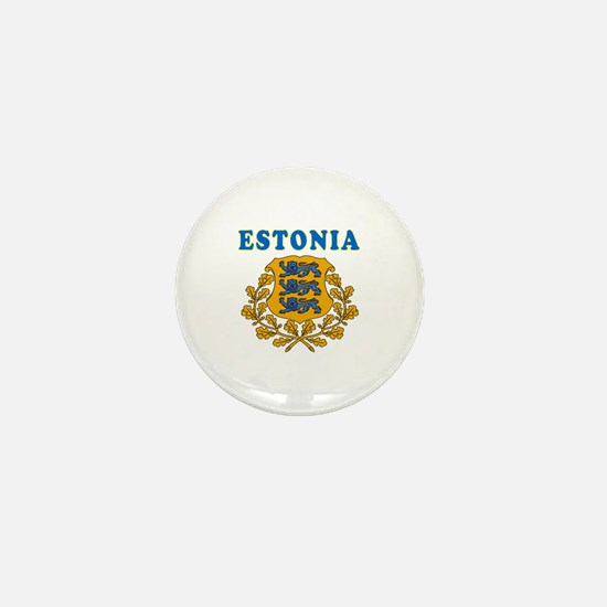 Estonia Coat Of Arms Designs Mini Button