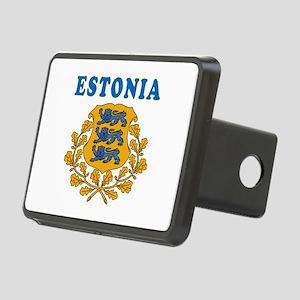 Estonia Coat Of Arms Designs Rectangular Hitch Cov