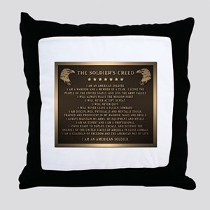 Soldiers creed Throw Pillow