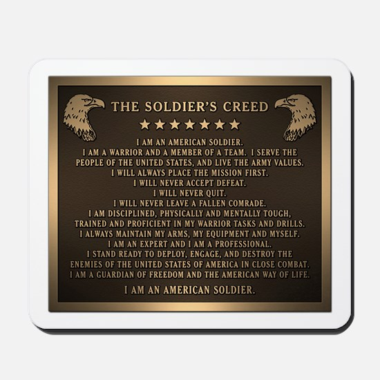 Soldiers creed Mousepad