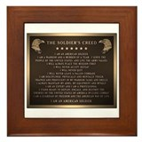 Soldiers creed Framed Tiles