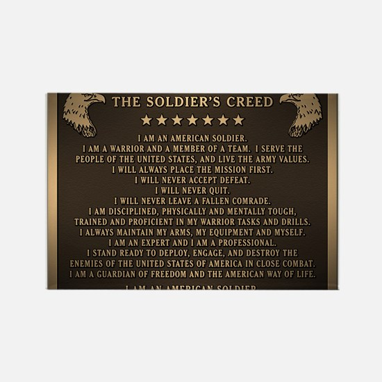 Soldiers creed Rectangle Magnet