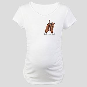 Welsh Terrier Attitude Maternity T-Shirt
