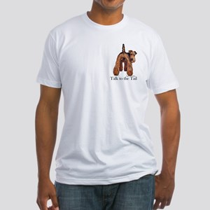 Welsh Terrier Attitude Fitted T-Shirt