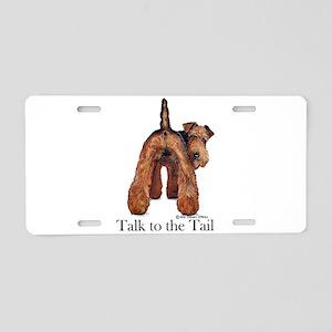 Welsh Terrier Attitude Aluminum License Plate