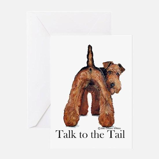 Welsh Terrier Talk Greeting Card