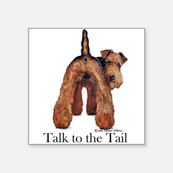 "Welsh Terrier Talk Square Sticker 3"" x 3"""