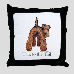 Welsh Terrier Attitude Throw Pillow