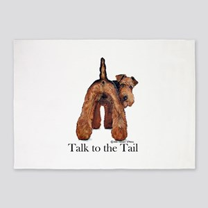 Welsh Terrier Attitude 5'x7'Area Rug