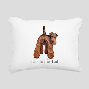 Welsh Terrier Attitude Rectangular Canvas Pillow