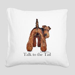 Welsh Terrier Attitude Square Canvas Pillow