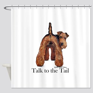 Welsh Terrier Attitude Shower Curtain