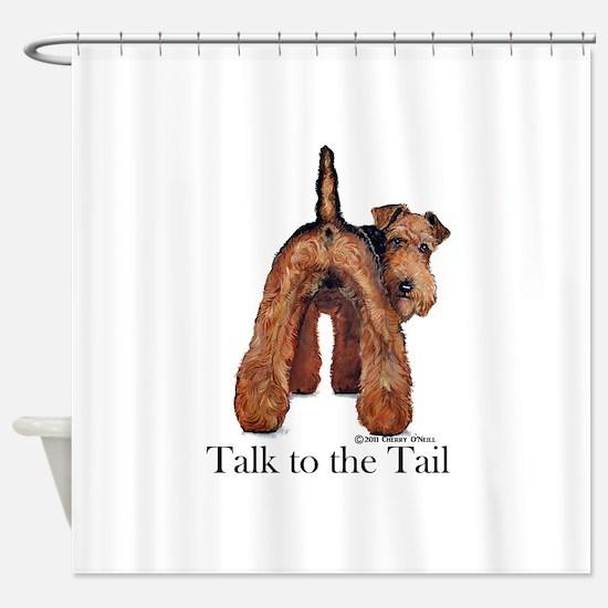 Welsh Terrier Talk Shower Curtain