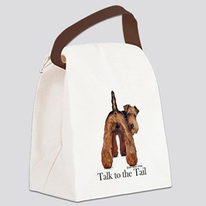 Welsh Terrier Attitude Canvas Lunch Bag