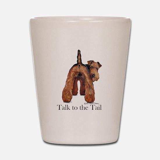 Welsh Terrier Talk Shot Glass