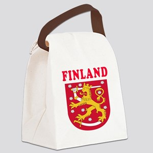 Finland Coat Of Arms Designs Canvas Lunch Bag