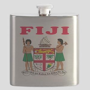 Fiji Coat Of Arms Designs Flask