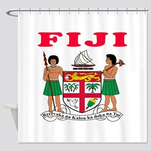 Fiji Coat Of Arms Designs Shower Curtain