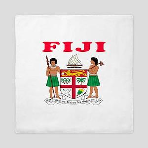 Fiji Coat Of Arms Designs Queen Duvet