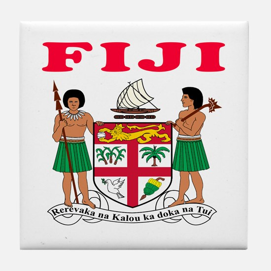 Fiji Coat Of Arms Designs Tile Coaster