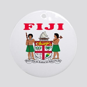 Fiji Coat Of Arms Designs Ornament (Round)