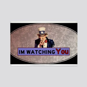 Uncle Sam Is Watching Rectangle Magnet