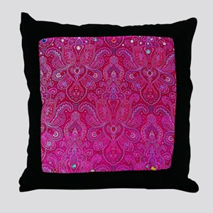 Paisley Jewels Throw Pillow