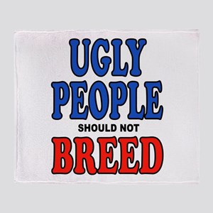 UGLY PEOPLE Throw Blanket