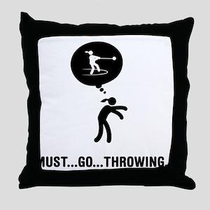 Hammer Throw Throw Pillow