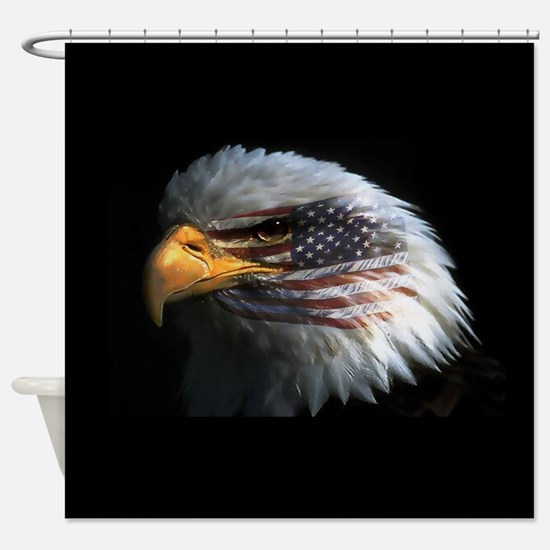 eagle3d.png Shower Curtain