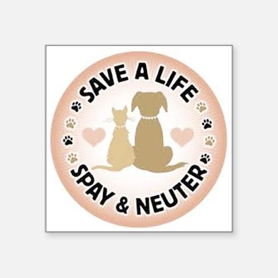 Save A Life Spay & Neuter Sticker