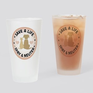 Save A Life Spay & Neuter Drinking Glass