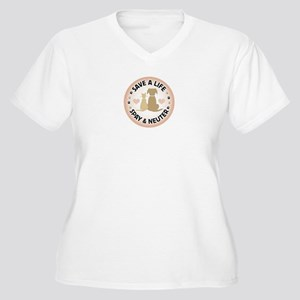 Save A Life Spay & Neuter Plus Size T-Shirt