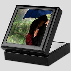 Kissing in the Rain Keepsake Box