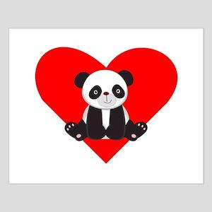 Cute Panda Heart Poster Design