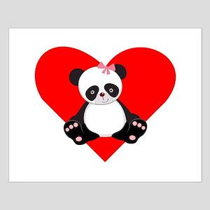 Girl Panda Heart Poster Design