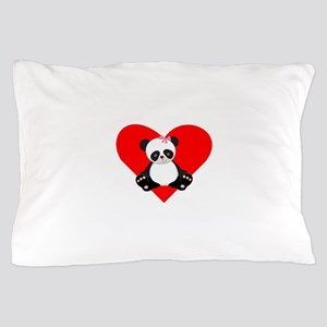 Girl Panda Heart Pillow Case