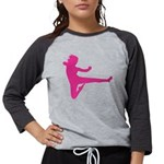 Karate Girl Womens Baseball Tee