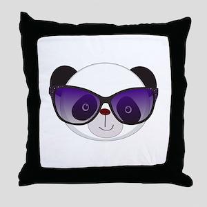 Panda With Sunglasses Throw Pillow