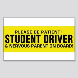 Student Driver and Parent on Board! Sticker (Recta